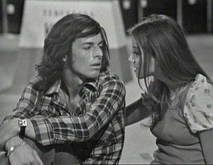 Claudio Baglioni - Baglioni and his wife Paola Massari in 1972.