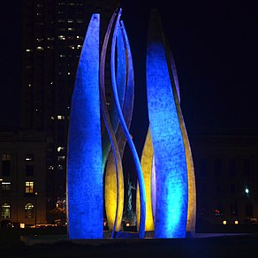 Cleveland LED Flame and Fountain of Eternal Life (9432652663).jpg