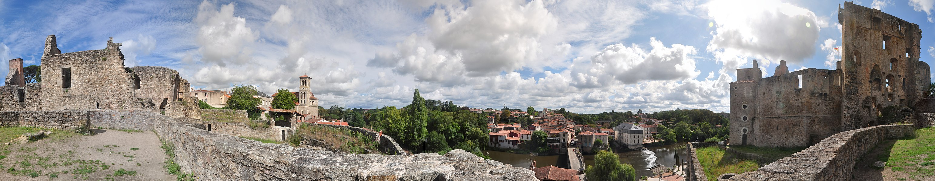 Clisson from the castle.