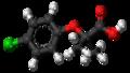 Clofibric acid molecule ball.png