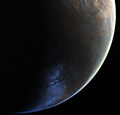 Close-up of the crescent Mars from Viking 2.jpg