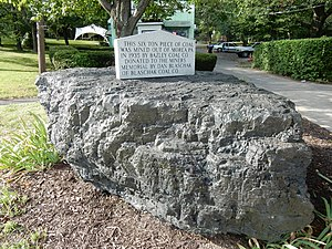 Shenandoah, Pennsylvania - Six ton piece of coal at Girard Park.