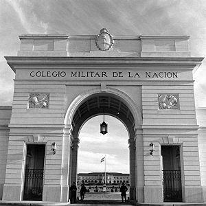 Colegio Militar de la Nación - Entance archway