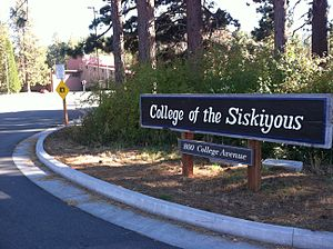 College of the Siskiyous - Image: College of the Siskiyous sign