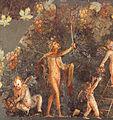 Cologne peinture murale du 1er s Satyre et amours vendangeurs.jpg