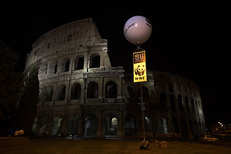 Earth Hour - Colosseum darkened for Earth Hour 2008