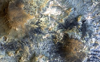 Mawrth Vallis - Colour variations in Mawrth Vallis are among the most spectacular on Mars.