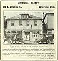 Columbia Bakery Advertisement - Springfield, Ohio 1920.jpg
