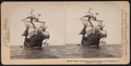 "Columbus' flagship ""Santa Maria,"" Columbus Naval parade, New York Harbor, U.S.A, from Robert N. Dennis collection of stereoscopic views 3.png"