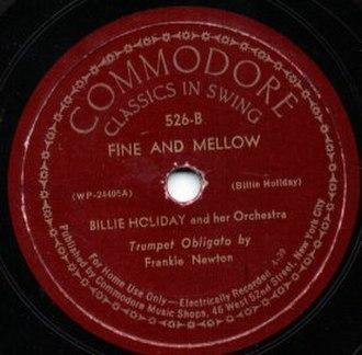 Fine and Mellow - Image: Commodore Record