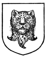 Fig. 330.—Leopard's head erased and affronté.