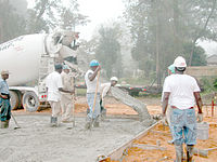 Pouring a concrete floor for a commercial building, (slab-on-grade)