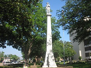 Gregg County, Texas - Image: Confederate monument in Longview, TX IMG 3949