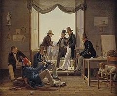 Constantin Hansen 1837 - Et selskab af danske kunstnere i Rom.jpg