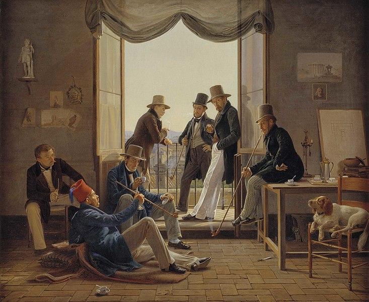 File:Constantin Hansen 1837 - Et selskab af danske kunstnere i Rom.jpg