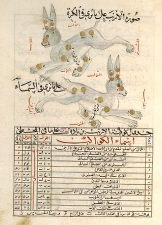 Abd al-Rahman al-Sufi - Image: Constellation lièvre al Sufi
