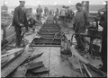 Construction of caisson for shipbuilding dock, deck view looking east. - NARA - 299639.tif