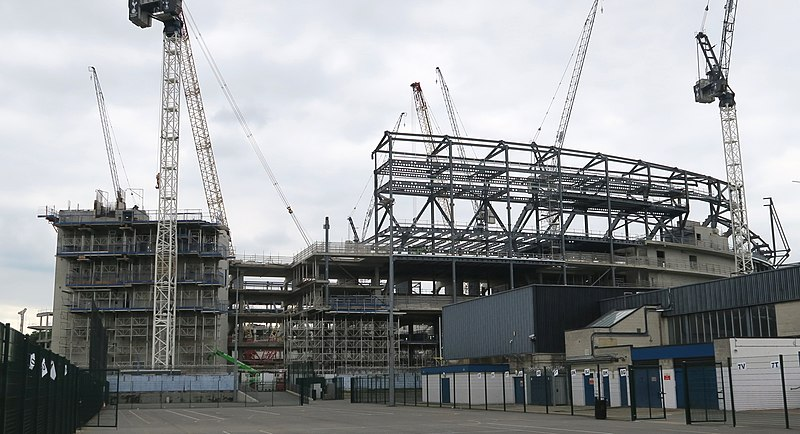File:Construction of new stadium of Tottenham Hotspur - East Stand July 2017.jpg