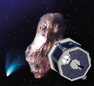 CONTOUR - Artists' impression of CONTOUR approaching a comet.