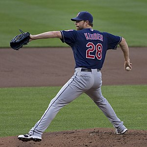 Corey Kluber - Kluber pitching for the Cleveland Indians in 2013