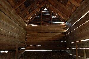 Corn crib - Corn crib interior in North Carolina, US