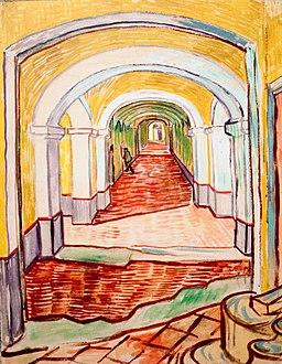 Corridor of Saint-Paul Asylum in Saint-Rémy - My Dream
