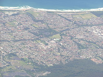 Tarrawanna, New South Wales - Overlooking Tarrawanna (bottom right) and surrounding suburbs from the west.