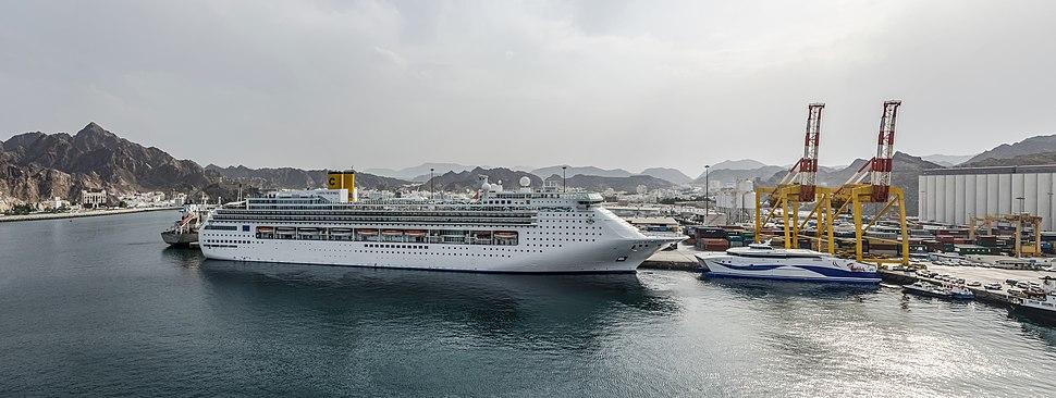 Costa Victoria in Port Sultan Qaboos, Muscat, Oman 20120408 1