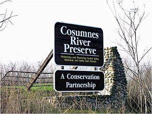 Cosumnes River Preserve - Picture of Cosumnes River Preserve sign