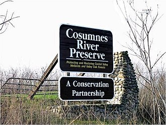 Cosumnes River Preserve - Picture of Cosumnes River Preserve sign