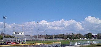 Countryside High School - The school's athletic fields and grandstand