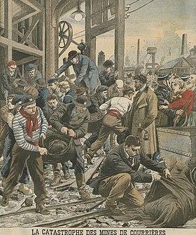 La catastrophe de Courrières illustrée par Le Petit Journal.