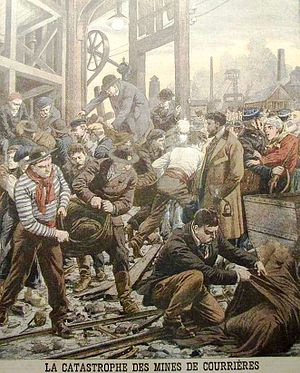 Senghenydd colliery disaster - Le Petit Journal illustration of the Courrières mine disaster.
