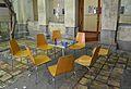Covent de sant Roc de Gandia, taula i cadires al claustre.JPG