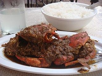 Goan cuisine - Image: Crab xec xec