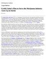 Credit Union's Plan to Serve the Marijuana Industry Goes Up in Smoke (IA CreditUnionsPlantoServetheMarijuanaIndustryGoesUpinSmoke-crs).pdf