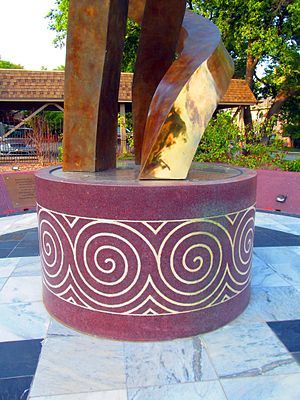 "Creek Council Oak Tree - ""Trail of Tears Memorial Sculpture"", 2014"