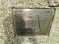 Criffel stone plaque, Crossens.JPG