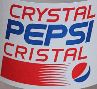 Crystal Pepsi - Canadian label of a Crystal Pepsi 20 oz. bottle in 2016