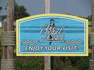 Welcome to the Crystal Coast sign