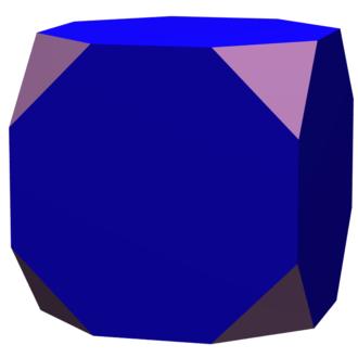 Octagram - Image: Cube truncation 0.50