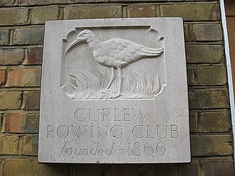 Curlew Rowing Club - Emblem on the boathouse