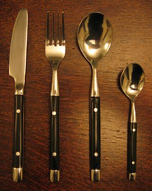 Four pieces of cutlery.