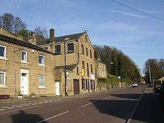 Highburton village in United Kingdom