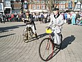 Cyclists in period costume at The Square - geograph.org.uk - 1251806.jpg
