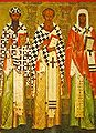 Cyril of Alexandria, Athanasius of Alexandria, Leontiy of Rostov.jpg