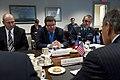 Czech Republic Minister of Defense Alexandr Vondra, center, and his senior advisors meet with Secretary of Defense Leon E. Panetta in the Pentagon on Nov 121120-D-BW835-186.jpg