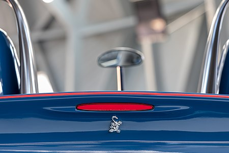 Third brake light of the Wiesmann Spyder Concept at Wiesmann Sports Cars, Dülmen, North Rhine-Westphalia, Germany