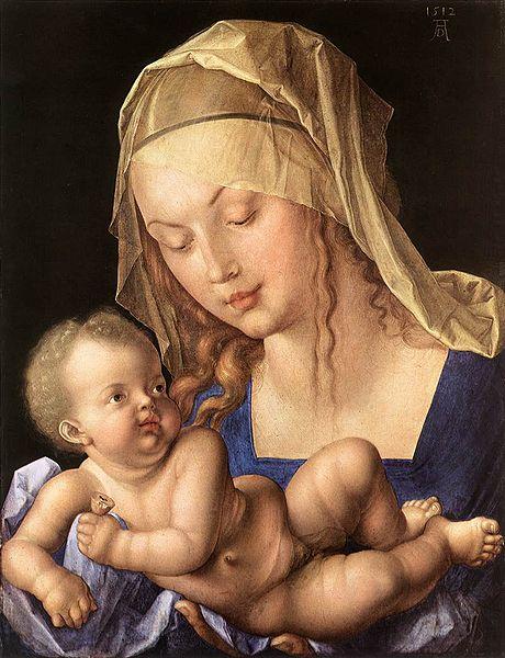 File:Dürer, Albrecht - Maria mit Kind (Madonna mit der Birnenschnitte) - 1512.jpg