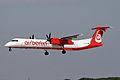 D-ABQE Dash 8Q-402 Air Berlin DUS 01AUG09 (6823097703).jpg
